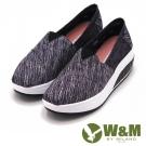 W&M BOUNCE飛線厚底增高休閒鞋 女鞋-黑(另有紫、藍)