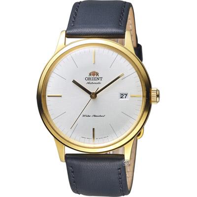ORIENT 東方錶 DATE II 日期顯示機械錶-金色/40mm