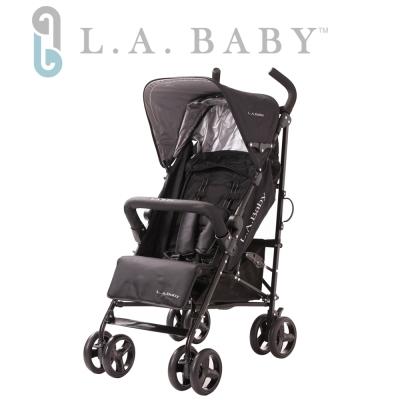 美國 L.A. Baby 時尚輕便嬰兒手推車-黑色