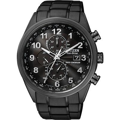 CITIZEN Eco-Drive 光動能電波計時腕錶(AT8105-53E)-黑/43mm