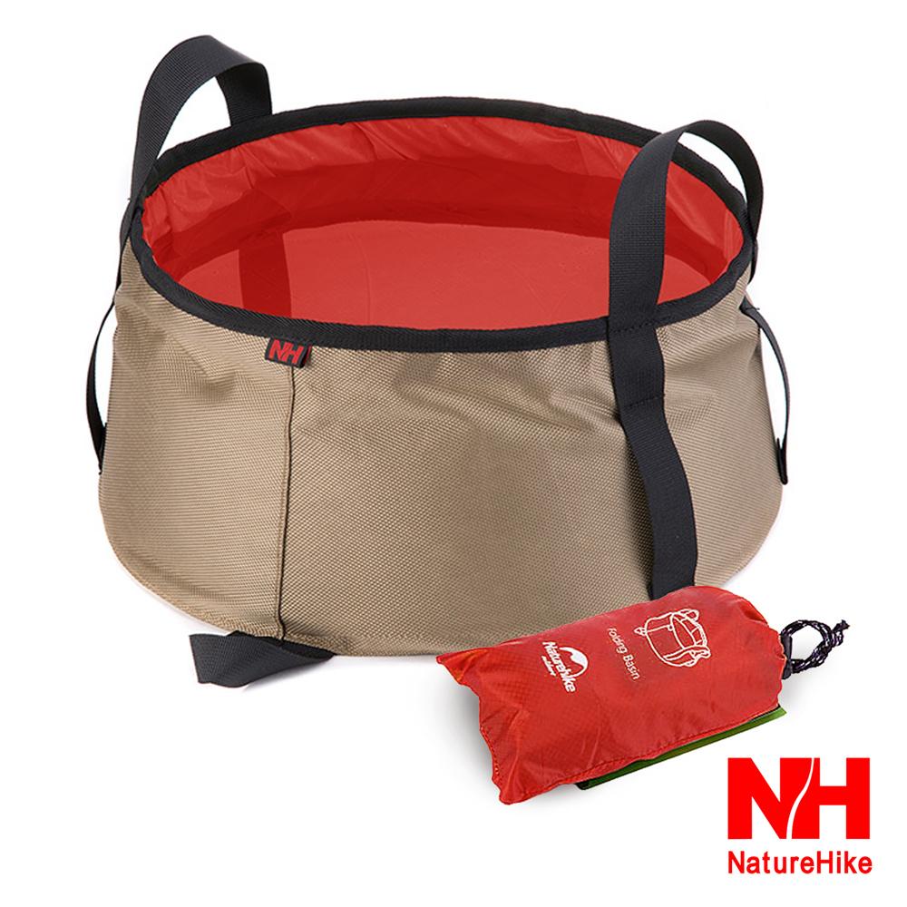NH 輕量耐磨折疊洗臉盆 儲水盆 水桶 10L 附收納袋 橘紅