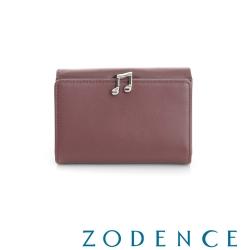 ZODENCE 西班牙牛皮系列完美和弦音符設計中夾 紫