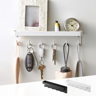 YAMAZAKI smart磁吸式鑰匙工具架-白★置物架/多功能收納/掛勾/居家收納