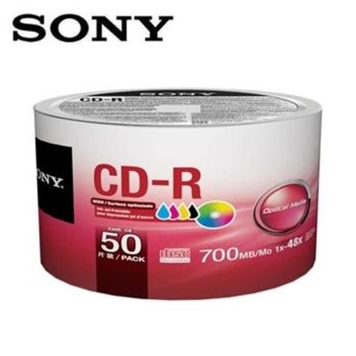 SONY CD-R 700MB 白金片 3760dpi 珍珠白滿版可噴墨光碟片X50片