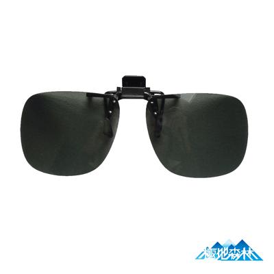 【極地森林】深灰色TAC寶麗萊偏光鏡片外掛式太陽眼鏡(近視專用5077)
