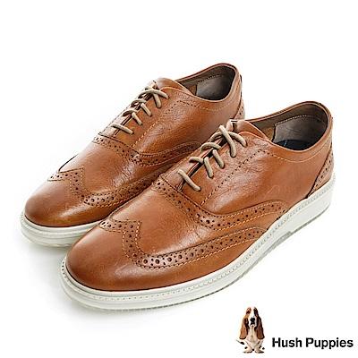 Hush Puppies SHIBA 設計感休閒鞋-棕色