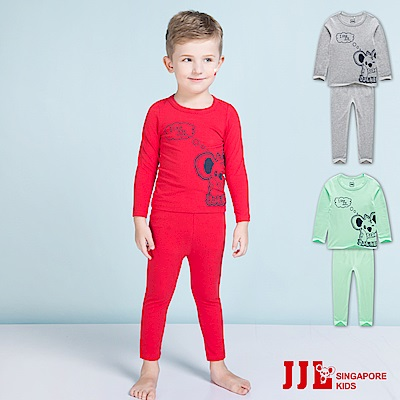 JJLKIDS 寶寶考拉熊棉質居家休閒套裝(3色可選)