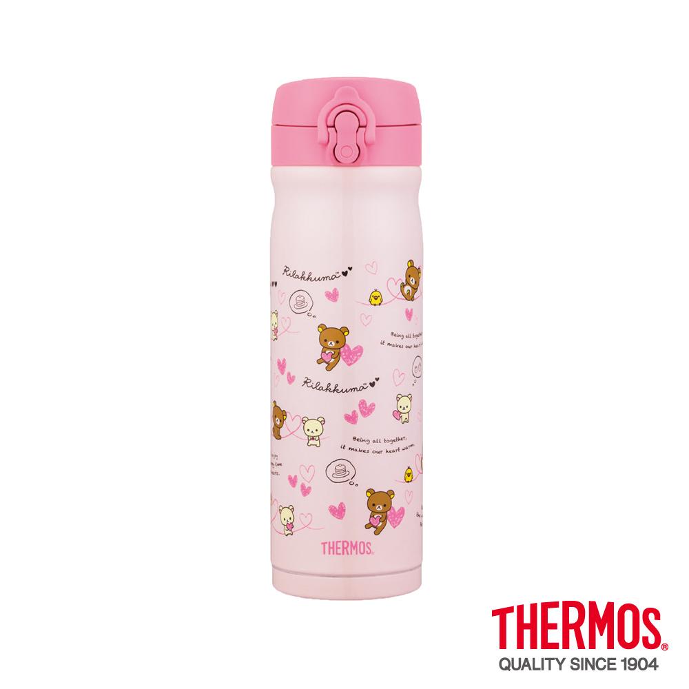 THERMOS膳魔師 粉紅拉拉熊不鏽鋼真空保溫瓶0.5L(JMY-502RM-HT)