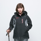 歐都納 GORE-TEX+W.S刷毛兩件式防水防風女款外套 A-G1431W 黑
