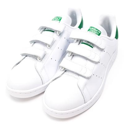 ADIDAS-男休閒鞋S75187-白綠