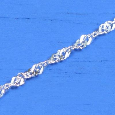 維克維娜 18吋純銀水波鍊。義大利925純銀單鍊
