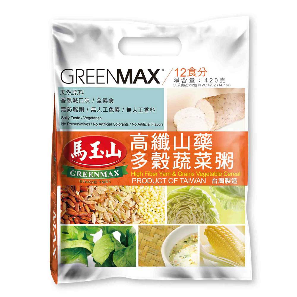 馬玉山 高纖山藥多穀蔬菜粥(35gx12包)
