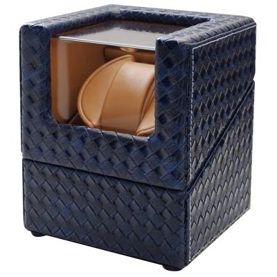 PARNIS BOX 獨家訂製 編織 藍色 居家收納 自動盒 搖錶器 自動 00 -BLC