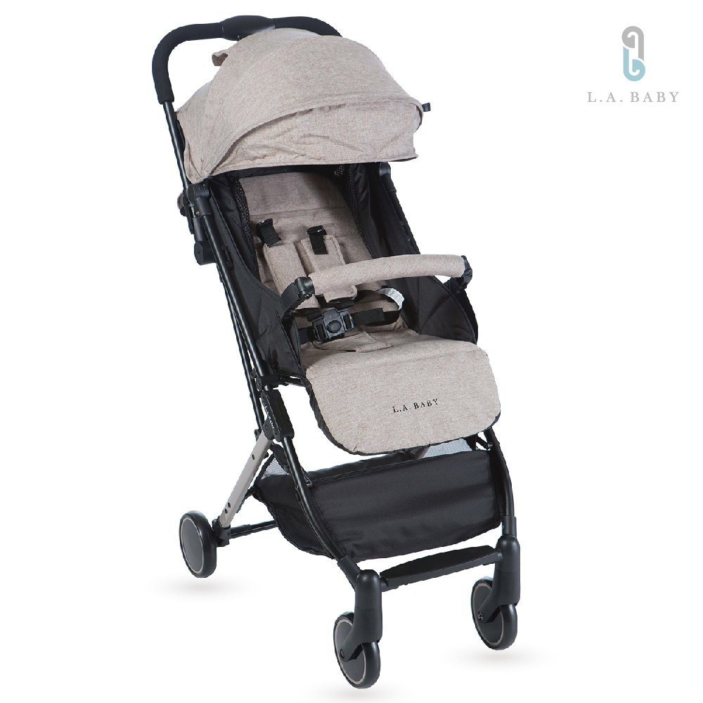 (L.A. Baby)城市輕旅嬰兒手推車  (奶油卡其 )