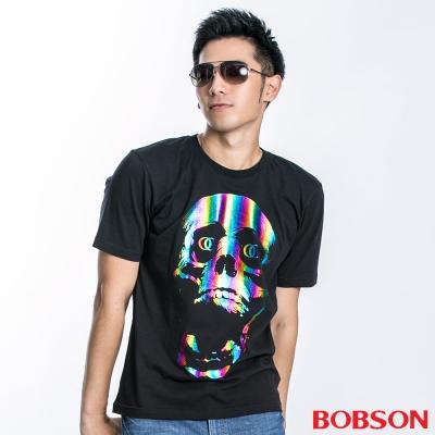 BOBSON-男款變色骷髏短袖上衣