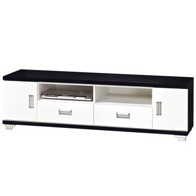 時尚屋黑白配5尺電視櫃