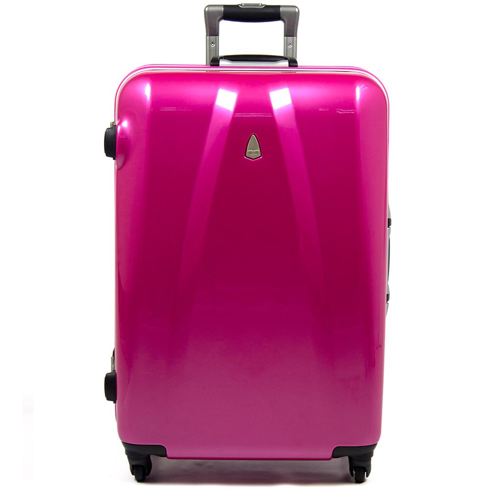 【aaronation】29吋-MOM日本品牌 PC鋁框行李箱(MF1028-29-桃紅)