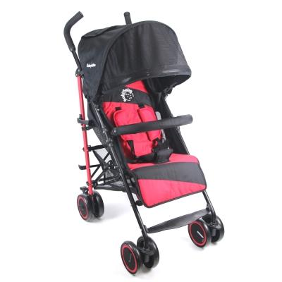 BabyBabe 新款全罩式加寬平躺傘車-紅