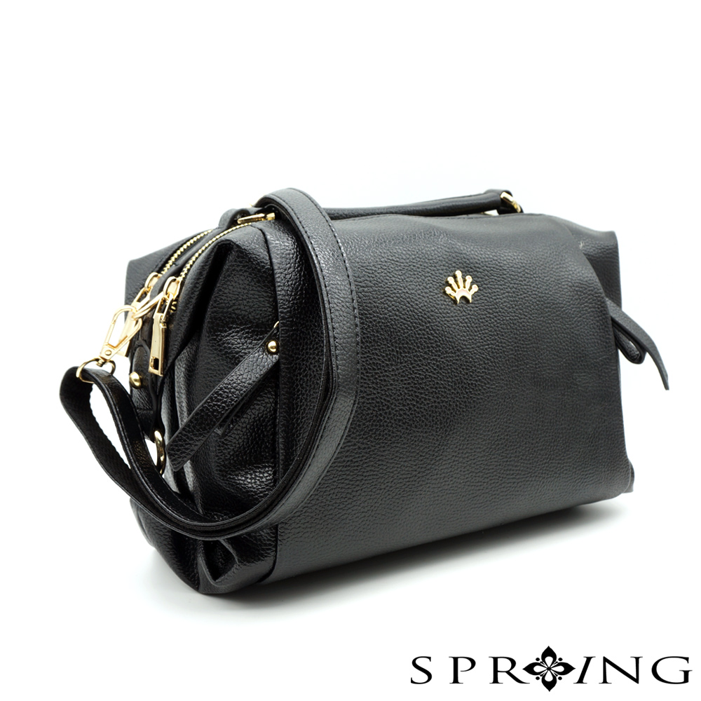 SPRING-Aurora歐若拉斜背枕頭包-黑