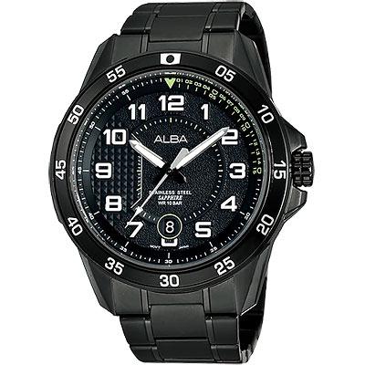 ALBA 競速方程式時尚腕錶(AS9505X1)-IP黑/45mm