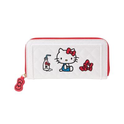 Sanrio HELLO KITTY- Kitty系列PU皮革拉鍊長皮夾