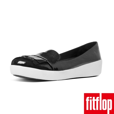 FitFlop TM-FRINGEY SNEAKERLOAFER PATENT黑