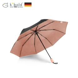 德國kobold酷波德 抗UV旋轉芭蕾系列-超輕巧-隱藏傘珠-遮陽防曬三折傘-冰晶粉