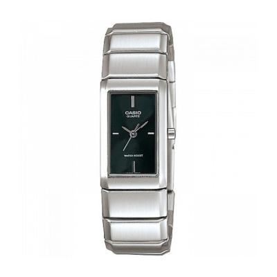 CASIO 清新時尚酒桶型指針腕錶(LTP-2037A-1C)黑色丁字面/22mm