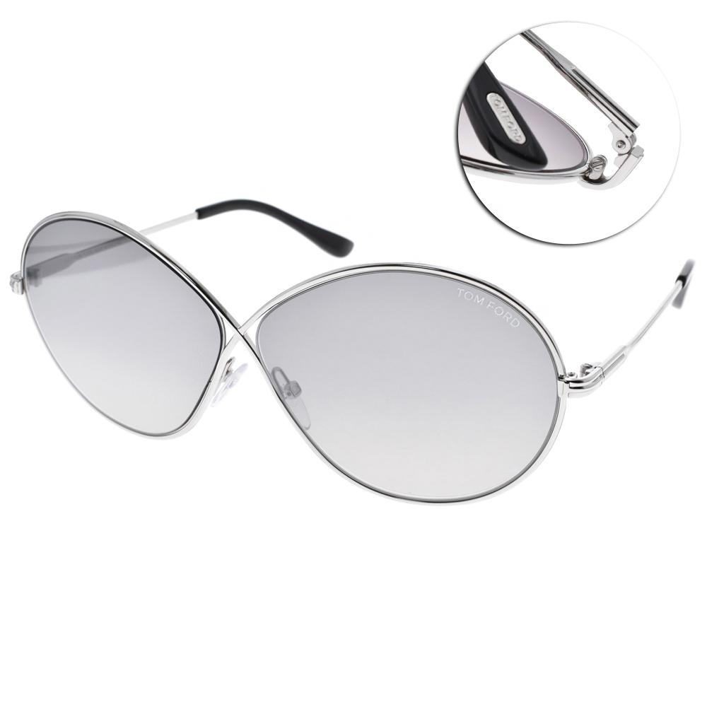 TOM FORD太陽眼鏡 經典8字款/銀-白水銀#TOM0564 C18C