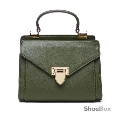 鞋櫃ShoeBox-女包-斜背包-信封造型手提小方包-綠