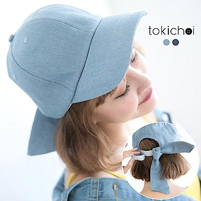 東京著衣 輕甜單寧綁帶帽子(共二色)