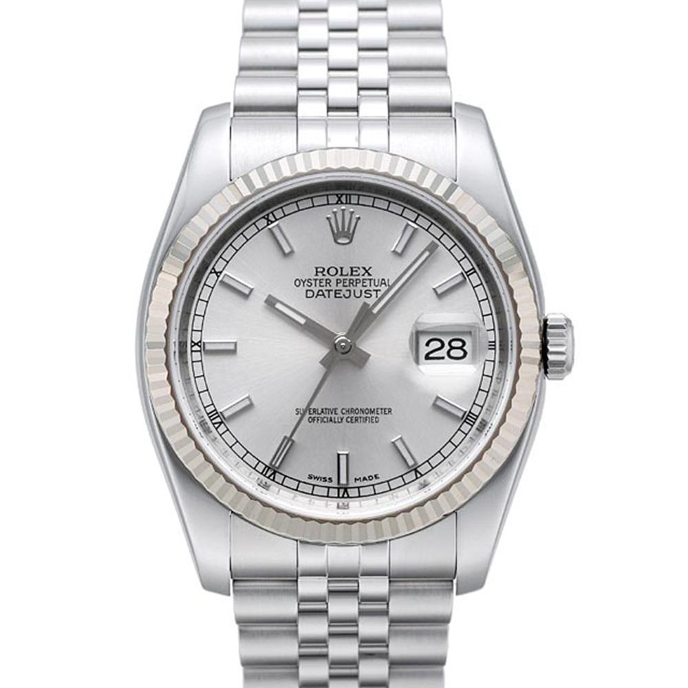 ROLEX 勞力士 Datejust 116234 蠔式恆動日誌型男錶-銀/36mm