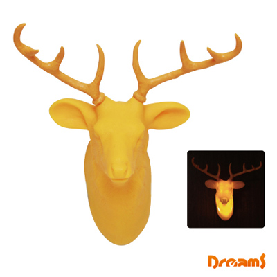 Dreams Hunting Trophy 裝飾壁掛燈 - 公鹿/ 黃