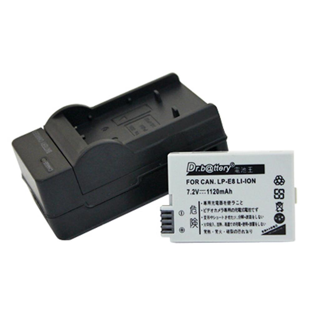 電池王 For Canon LP-E8 單眼高容量鋰電池+充電器組