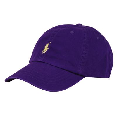 POLO 經典黃馬LOGO帆布鴨舌帽(紫)