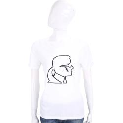 Karl Lagerfeld Lightning 白色老佛爺側臉肖像短袖T恤