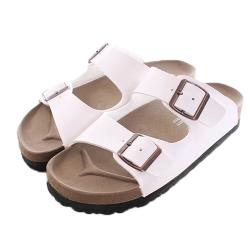 台灣製成人休閒款涼拖鞋 白 sk0081魔法Baby