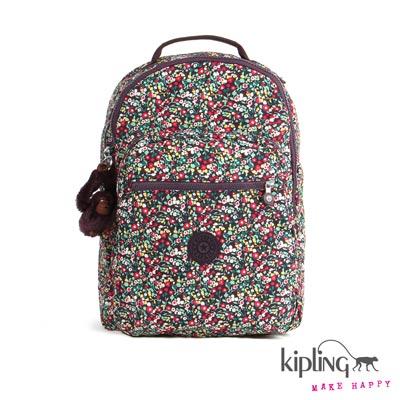 Kipling-後背包-田園小碎花紅
