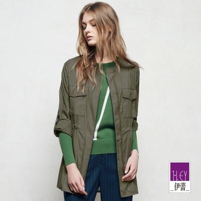 ILEY伊蕾 率性簡約百搭長版外套魅力價商品(綠)