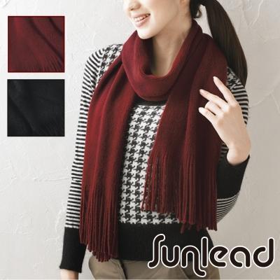 Sunlead 保暖輕盈純色密針織長版防寒暖暖圍巾/領巾/脖圍