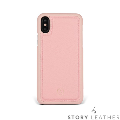 STORYLEATHER iPhone X 後背保護殼 荔枝紋蜜桃粉現貨皮套