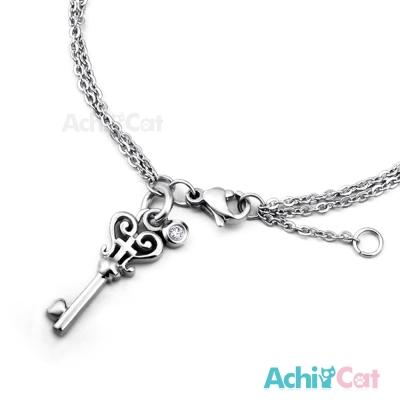 AchiCat 珠寶白鋼手鍊 愛情之鑰