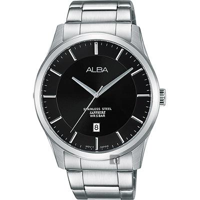 ALBA 城市簡約時尚腕錶(AS9C93X1)-黑/40mm