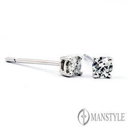 MANSTYLE 四方納福 0.40ct 鑽石耳環
