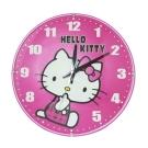 Hello Kitty凱蒂貓 可愛性格桃紅球型鐘面超靜音掛鐘JM-W569KT