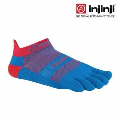 【Injinji】RUN 吸排五趾隱形襪-藍/紅