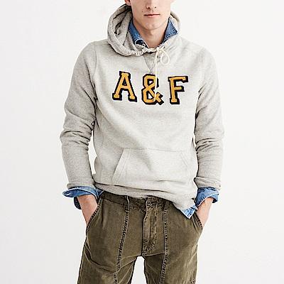 A&F 經典電繡文字設計連帽T恤-灰色 AF Abercrombie