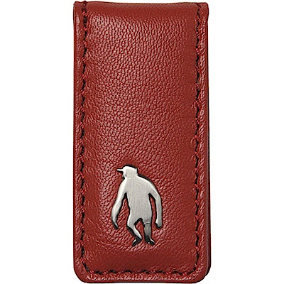 OBHOLIC 紅色羊皮鈔票夾錢夾