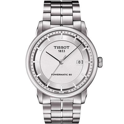 TISSOT T-Classic Luxury 機械腕錶-銀/41mm T0864071103100
