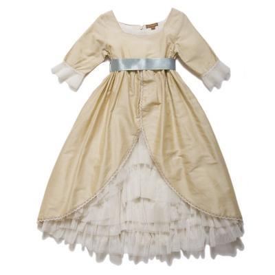 【 I Love Gorgeous 】 英國宮廷風雪紡緞帶洋裝/禮服 (2-7y)